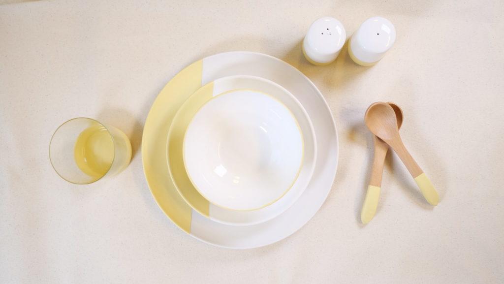 ターナーミルクペイントハニーマスタード食器塗装DIY